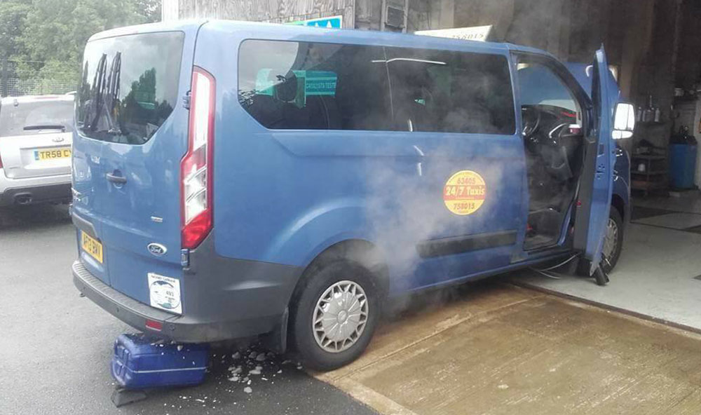 Ford Transit Custom DPF problem fixed in Kendal….