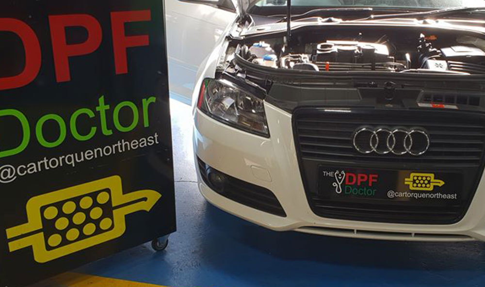 Audi A3 with Fault Code P242F repaired and DPF cleaned in Newcastle