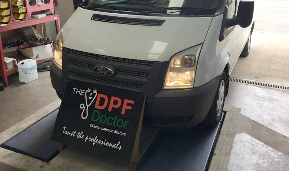 2012 Ford Transit 91k miles Faults found DPF cleaned Customer advised on driving style