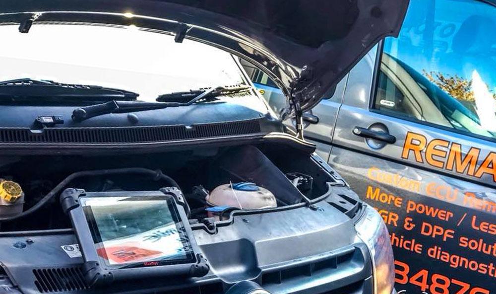 2011 VW T5 2.0 TDI in for a DPF Repair in Folkestone, Kent.