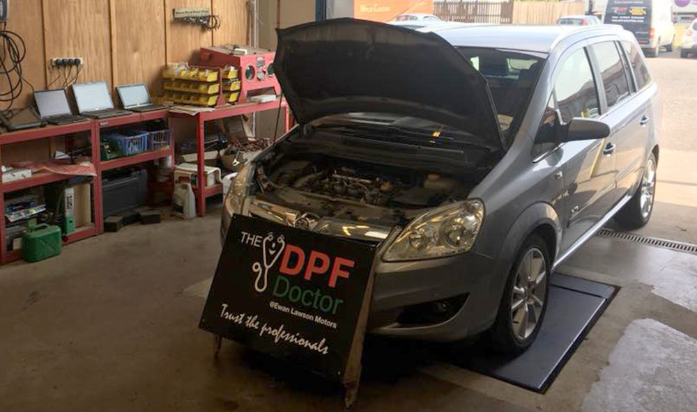 Vauxhall Zafira DPF Diagnosed, Fixed and Cleaned in Falkirk