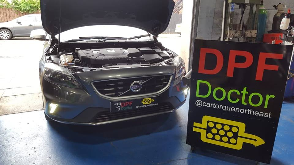 Volvo V40 DPF Cleaned in Newcastle