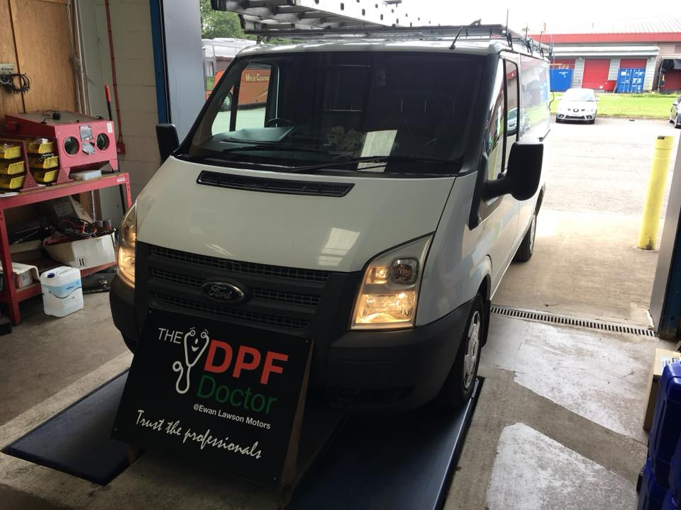 2012 Ford Transit DPF Cleaned in Falkirk