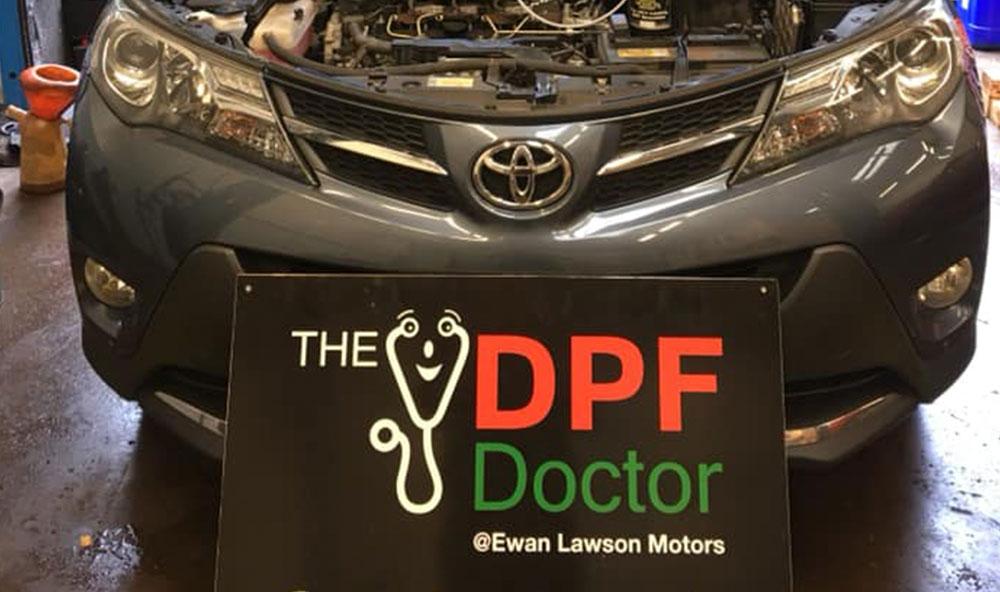 Toyota Rav 4 DPF Cleaned in Falkirk