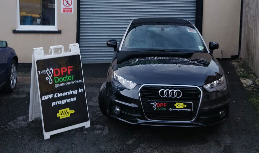 Audi with DPF Blocked in Newcastle