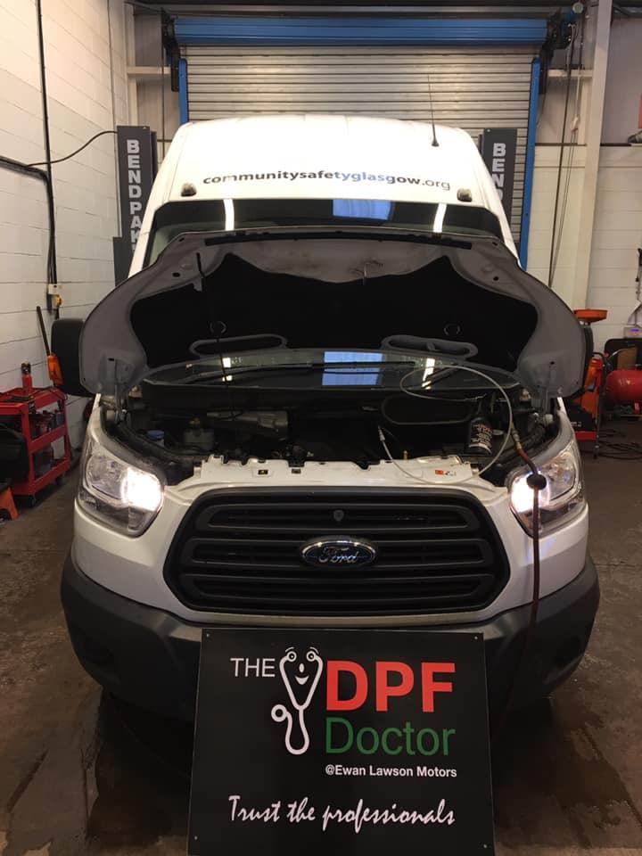 Ford Transit Minibus DPF Fixed Falkirk DPF Cleaning